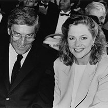 Nino Cerruti con Kathleen Turner